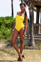 Yellow one pice swimsuit